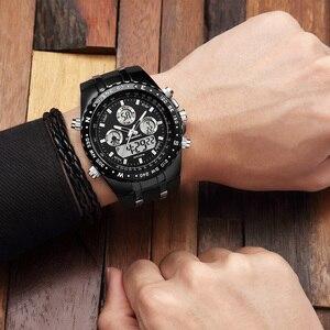 Image 5 - 2018 최고의 브랜드 럭셔리 패션 크로노 그래프 스포츠 남성 시계 led 디지털 쿼츠 시계 reloj hombre 남성 시계 relogio masculino