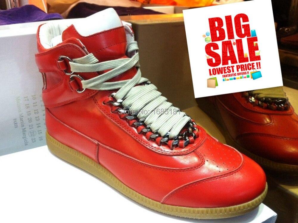2016 New maison martin margiela casual shoes Red lace up genuine leather  shoes Hot Sale Men s sneakers-in Men s Casual Shoes from Shoes on  Aliexpress.com ... 43e8e03ee