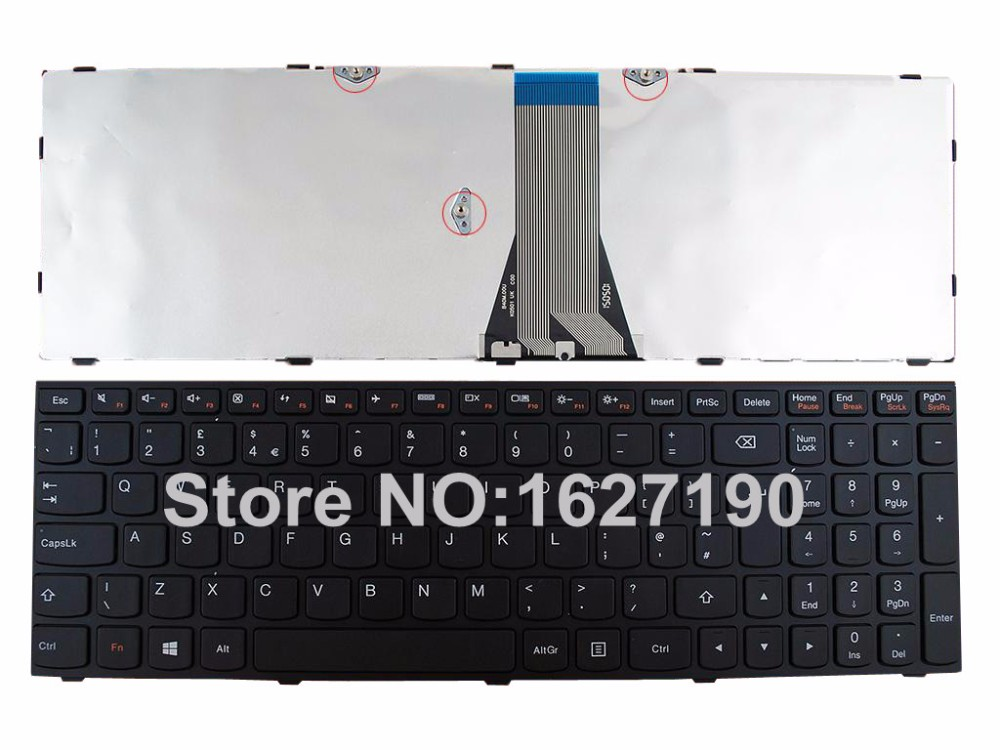 New UK Keyboard For LENOVO G50-70 BLACK FRAME For Win8 Laptop Keyboards With Free Shipping PN:25211081 AEST7E00210 9Z.NAFSQ.F0U