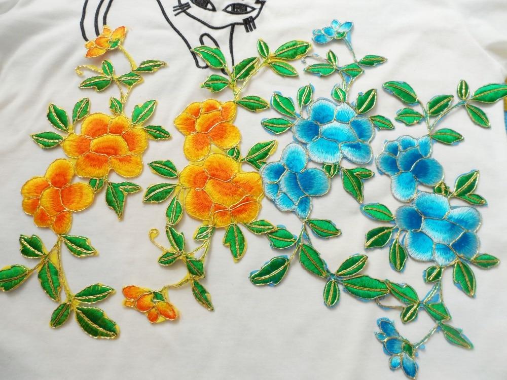 ⑧12*26 cm Flor del ciruelo del diseño flor encaje applique piezas ...
