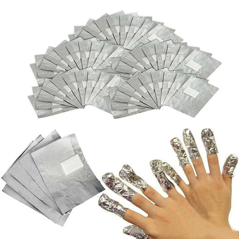 100PCS/bag Nail art Gel Polish Remover Pads Cotton Tinfoil Eco-friendly Manicure