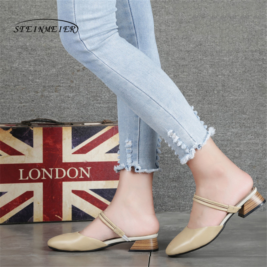 Women genuine Leather flat Sandals shoes handmade beige white oxford slippers vintage Square Toe British style shoes handmade genuine leather women s shoes vintage national trend cutout shoes flat shoes comfortable women s sandals free shipping page 1