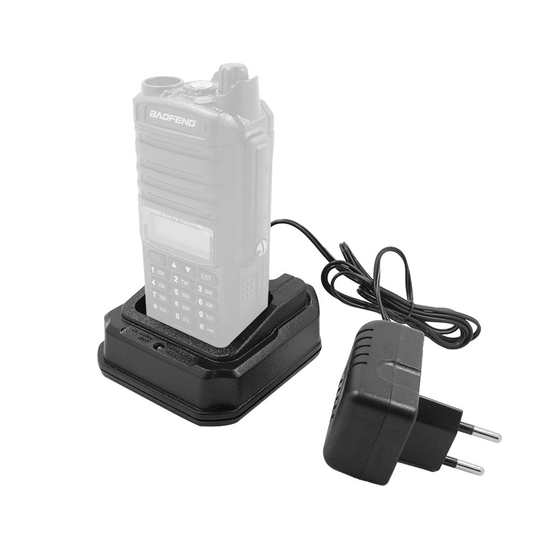 Baofeng Battery Charger Base with Adapter 100-240V for Baofeng All Waterproof Radio GT-3WP UV-9R Plus UV-XR Walkie Talkie