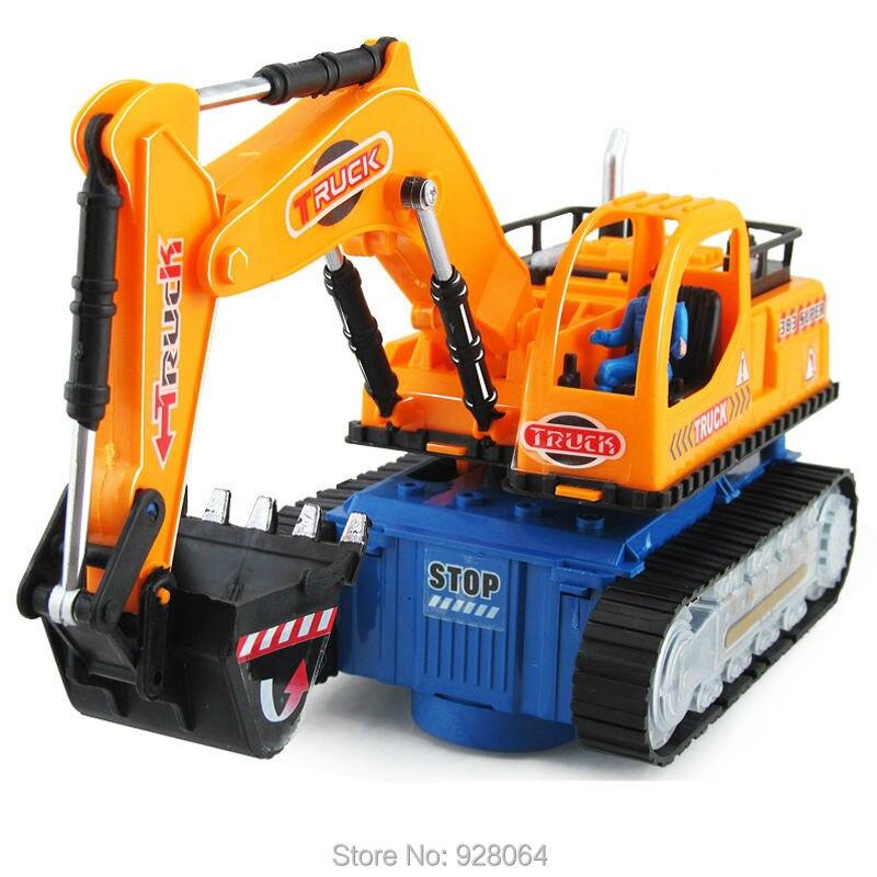 Coche eléctrico de juguete/modelo de vehículo de ingeniería excavadora/música/lu