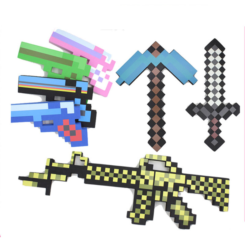 One Piece Anime Toys Maynkraft Game Foam Weapons Sword Axe Shovel Gun EVA Model Toys Action Figure Toy Gift for Kids Brinquedos цена и фото