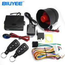 BIUYEE One Way Car Alarm System Auto Central Lock Vehicle Protection Security System Keyless Entry Siren