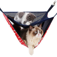 Portable cat Hammock bed 2 Level Summer Hanging Bed Pet Sleep Two Beds