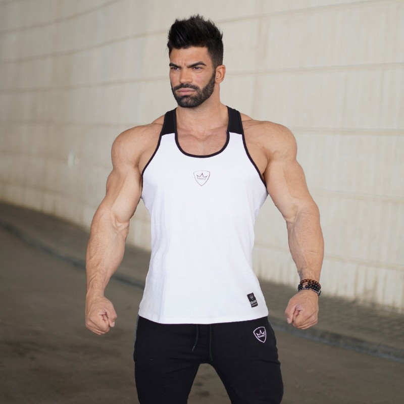 2018 Summer New Exercise Style   Tank     Tops   Men Bodybuilding Casual Gyms Vest Undershirt Muscle Vest Fashion High Quality   Top     Tanks