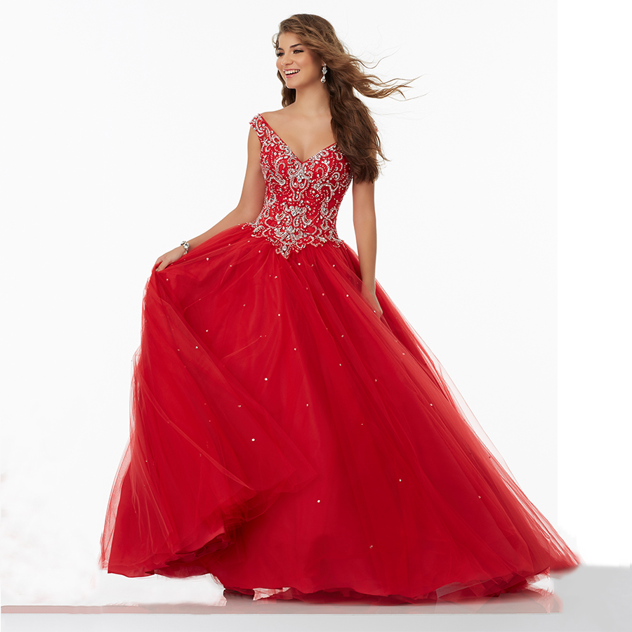 Red Ball Gown Dresses: Victorian Girls Masquerade Ball Gowns Scarlet Sweet 16