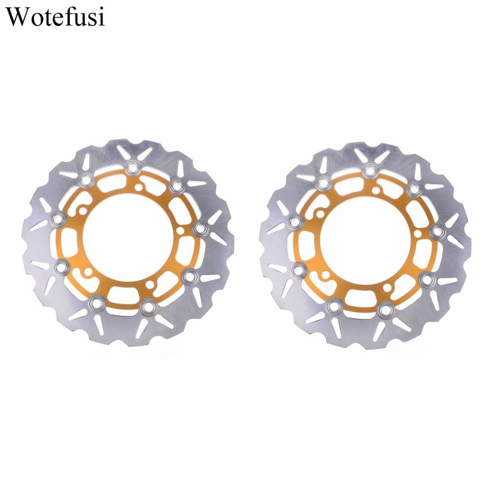 Wotefusi Motorcycle New Pair Front Brake Disc Disk Rotor For Suzuki SFV650 Gladius 2009-2011 SV650 Naked-ABS 2007-2010 [PA347]