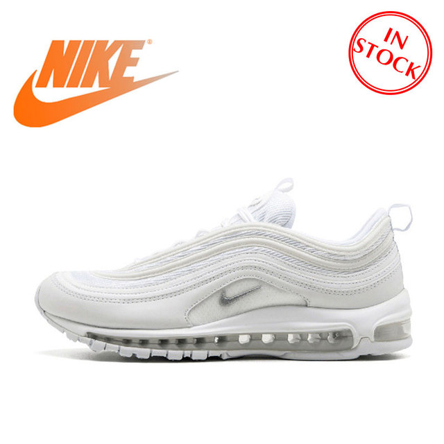 Original Official Nike Air Max 97 Men's Breathable Running Shoes Sports Sneakers men's classic Breathable Outdoor 921826-101