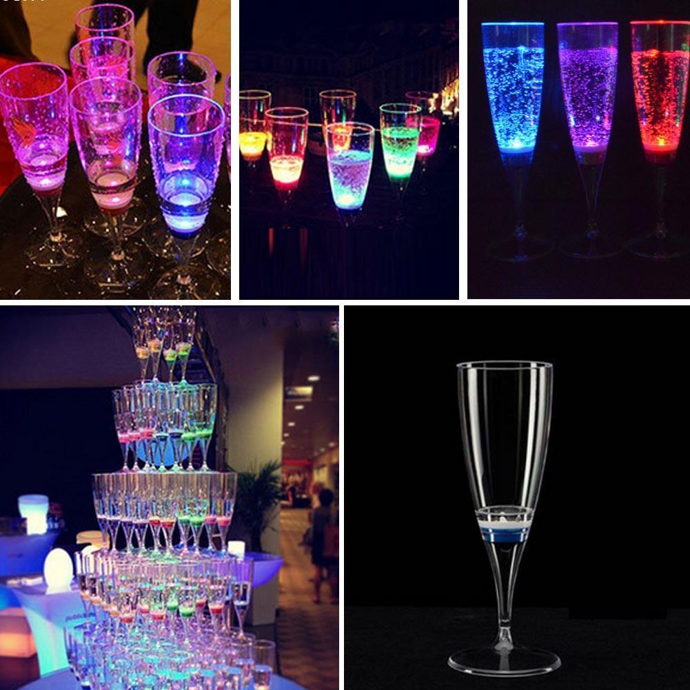 Wineglass led champagne glass goblet wine wine cup mug for Decor drink bottle