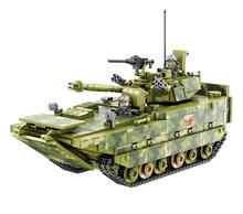 Military tank troop infantry fighting vehicles Building Blocks Armored Arms Gun DIY Bricks Toys For Children enlighten military series troop carrier building blocks set bricks construction toys for children gift 811 legoegoly