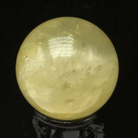 500G Natural Clear Citrine Crystal ball Quartz Point Specimen Healing