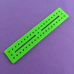 1 шт. j204y 20*100 мм зеленый цвет мульти-диафрагмы Пластик кусок для DIY модель делает продажи по потери Бразилии