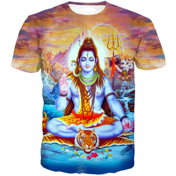 Great Shiva Short Sleeve 3D Printed O-neck Tees