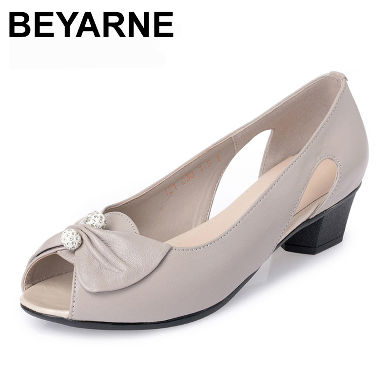BEYARNE Genuine Leather woman shoes sandals. butterfly-knot & crystal ,low heeled and comfortable, fashion stylish simplicityBEYARNE Genuine Leather woman shoes sandals. butterfly-knot & crystal ,low heeled and comfortable, fashion stylish simplicity