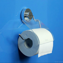 цена на Stainless Steel Suction Cup Toilet Paper Roll Holder Waterproof Tissue Organizer Bathroom Hardware & Installation