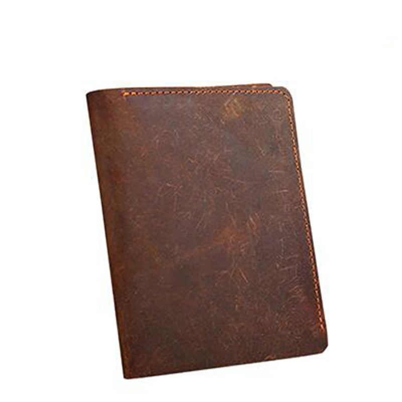 Men Wallets business Card Holder Genuine Leather wallet male Purse High Quality coffee short wallet Crazy Horse leather male wallet men genuine leather purse vintage wallet crazy horse short slim high quality credit card holder dollar price wallet