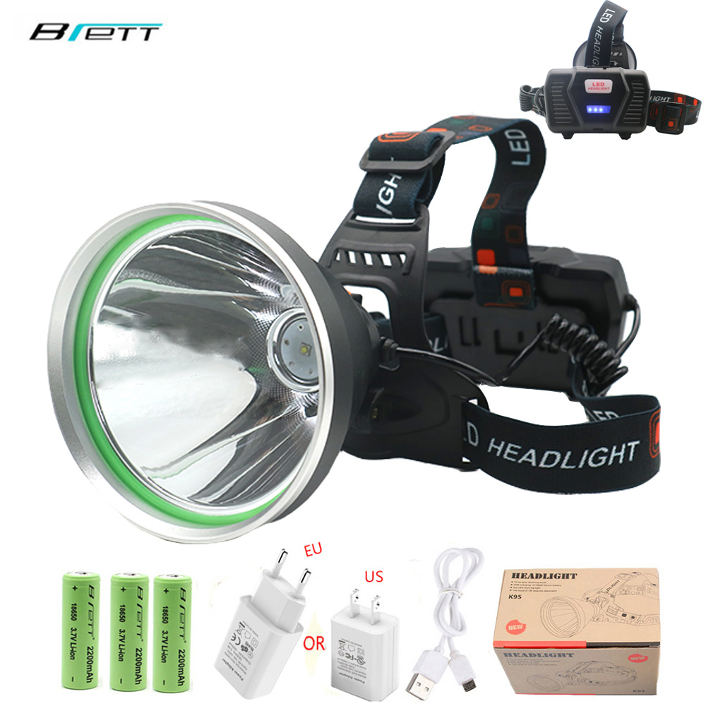 Head Lamp Led Rechargeable T20 Lamp Beads USB Mobile Power Function Outdoor Camping Hunting Cave Adventure Led Headlight