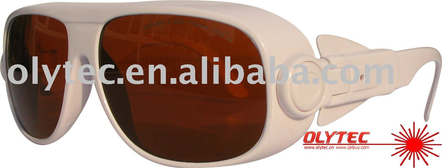 laser safety eyewear 190-540nm & 900-1700nm, CE, O.D 4+ Good V.L.T %  (OLY-LSG-1A) ce ep 1a 190 540
