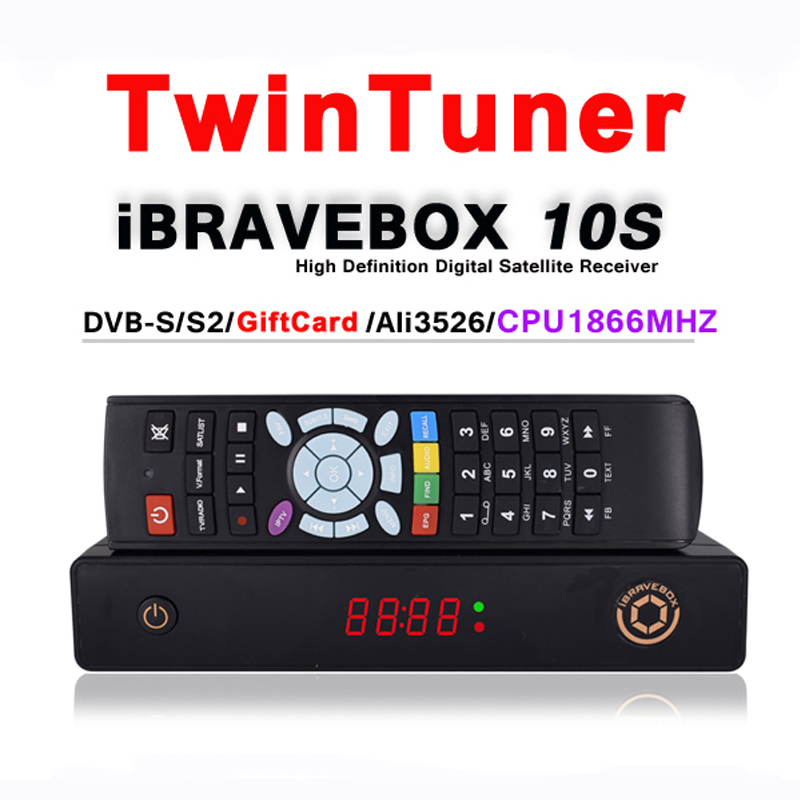 iBRAVEBOX F10S CPU1866MHZ , DDR2G DVB-S/S2 H.265 TwinTuner satellite receiver Support IPTV XtreamIPTV Spain CCcam
