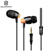 SoundPEATS In-Ear Wired Earphone Super Sound 3.5mm Jack Strong Bass Stereo Music Earbuds for Samsung Xiaomi Smartphone Headset 3 5mm jack in ear wired stereo earphone headset remote