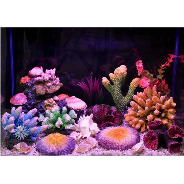 Us 9 88 25 Off New 12 Styles Artificial Aquarium Coral Decoration Rock Fish Tank Ornament Coral Reef Shell Stone Decoration Aquarium Background In