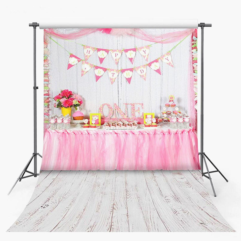 Consumer Electronics Camera & Photo Pink Gold Glitter Unicorn Party Photography Backdrop 1st Birthday Newborn Baby Shower Dessert Table Banner Background 7x5ft High Quality Goods