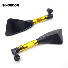 Motorcycle Accessories 8 10mm Mirror RearView Mirrors Blue Glass FOR ducati monster 900 pulsar ns 200 yamaha sr400