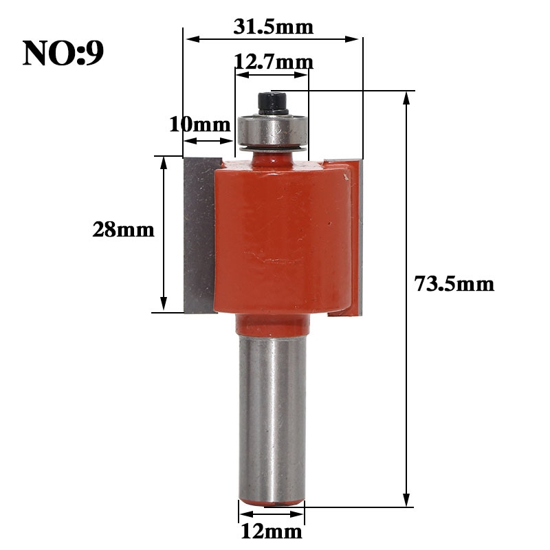 1pc 12mm Shank Rabbeting & Slotting Router Bit woodworking router bits carbide bit Woodworking cutter Wood Cutting Tool high grade carbide alloy 1 2 shank 2 1 4 dia bottom cleaning router bit woodworking milling cutter for mdf wood 55mm mayitr