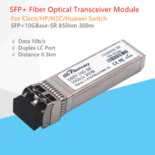SFP 10G Fiber Optic Module SFP-10G-SR 10GBASE SFP+ 850nm 300m DDM Transceiver Module Compatible for Ubiquiti/Mikrotik/Zyxel
