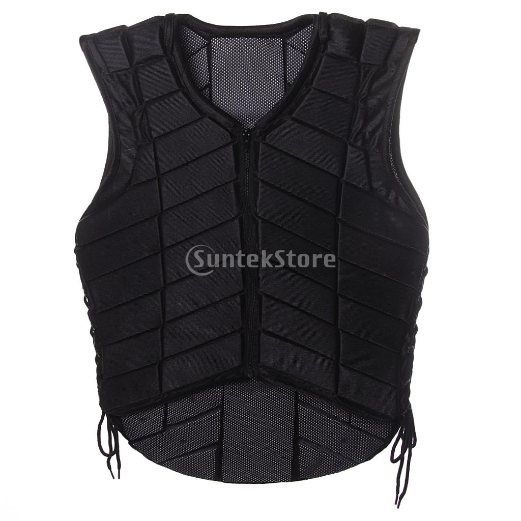 High Quality Black Equestrian Protective Vest Horse Riding Safety Vest Body Protector for Adults safety equestrian horse riding vest protective body protector black adult sportswear camping hiking accessories shock absorption