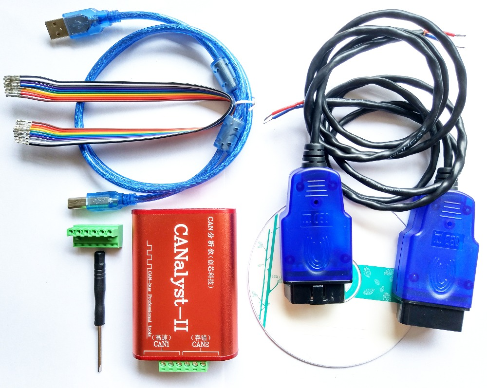 Peut analyseur + 2 * adaptateurs OBD + interprétation du protocole ISO 15765 essence + boîte tolérante aux pannes à basse vitesse/boîte à ligne unique
