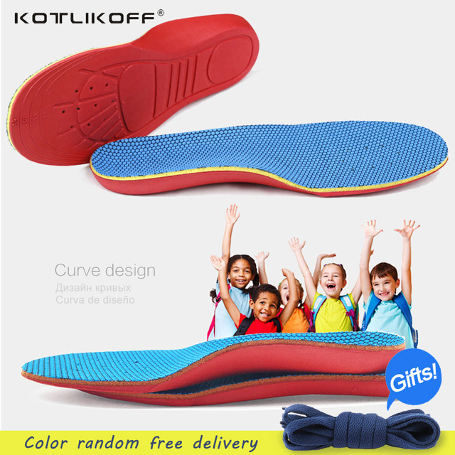 KOTLIKOFF Kids Children Orthopedic Insoles Shoes Flat Foot Arch Support Orthotic Pads Correction Health Feet Care scholl insole