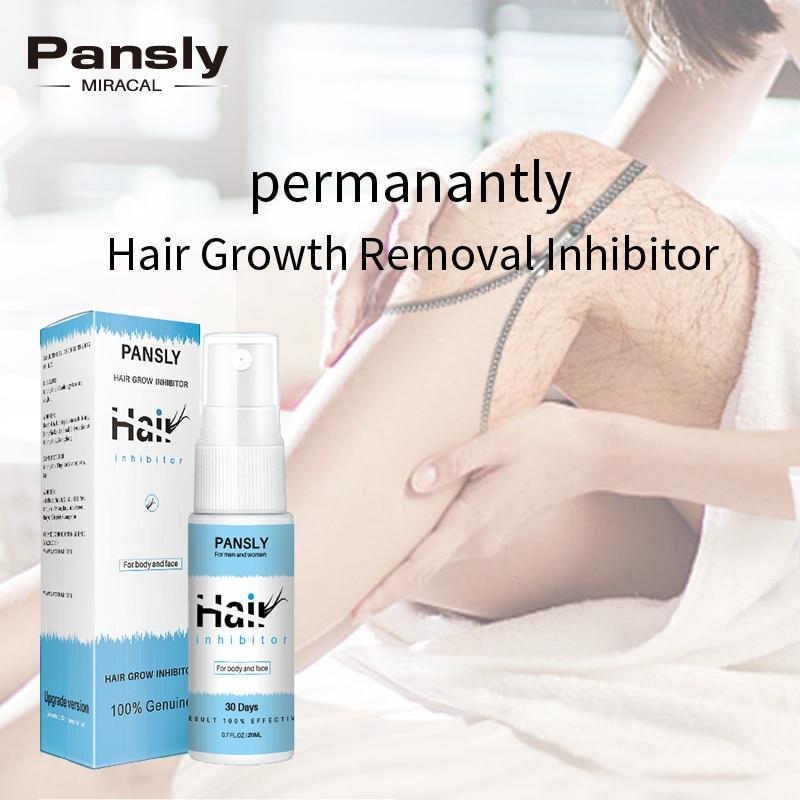 Pansly удаление роста волос ингибитор сыворотка масло спрей борода бикини интимное лицо ноги тело подмышки безболезненное средство для удале...
