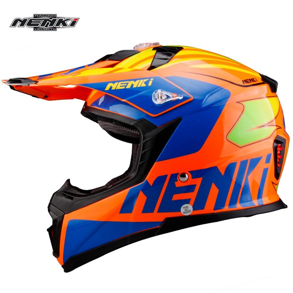 NENKI Fiberglass Motocross Helmet ATV Dirt Bike Off Road Rally Racing Capacete Casco Casque Kask MX3162 Motorcycle Helmets ECE стоимость
