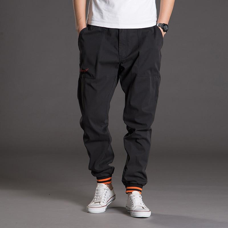 Große Größe Herrenmode Große Taschen Voller Länge Breite Bein Hosen Gute Qualität Männlichen Baumwolle Lose Hosen Casual Hosen Größe 5xl