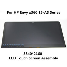 3840*2160 NEW LCD LED Touch Screen Assembly For HP Envy X360 15-AS 15-AS102UR 15-AS104NA 15-AS004NA 15-as101no 15-as104na