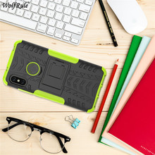 For Cover Xiaomi Mi A2 Lite Case TPU&PC Holder Armor Bumper Protective Phone Case For Xiaomi Mi A2 Lite Cover Redmi 6 Pro 5.84'' luanke litchi grain phone cover for xiaomi mi a2 lite