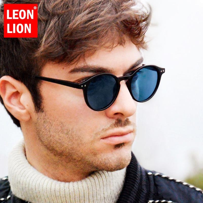 LEONLION 2019 Vintage Rice Nail Round Women/Men Sunglasses Brand Designer Glasses Ocean Lens Shopping Oculos De Sol Feminino