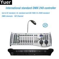2Pcs/Lot DMX 240 lighting controller Stage Lighting DJ equipment computer dmx console for par led moving head laser stage lights