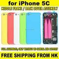 Белый Розовый Желтый Синий Полный комплект крышка Батарейного Отсека Сзади Назад Крышку Корпуса Ближний Рамка Замена Ассамблея для iPhone 5C + Repair Tool