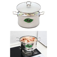 High grade European style large pot stainless steel kitchen double bottom pot 24cm