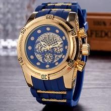 Relogio Dourado Masculino Мужские кварцевые часы мужские Роскошные полые деловые военные мужские наручные часы Прямая доставка