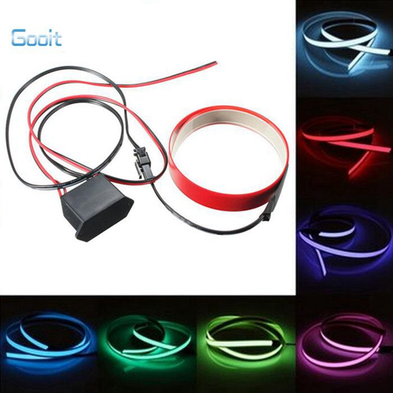 1m led el wire electro luminescent tape glowing led rope flat strip 1m led el wire electro luminescent tape glowing led rope flat strip light el cold light with dc 12v car decoration light in led strips from lights aloadofball Image collections