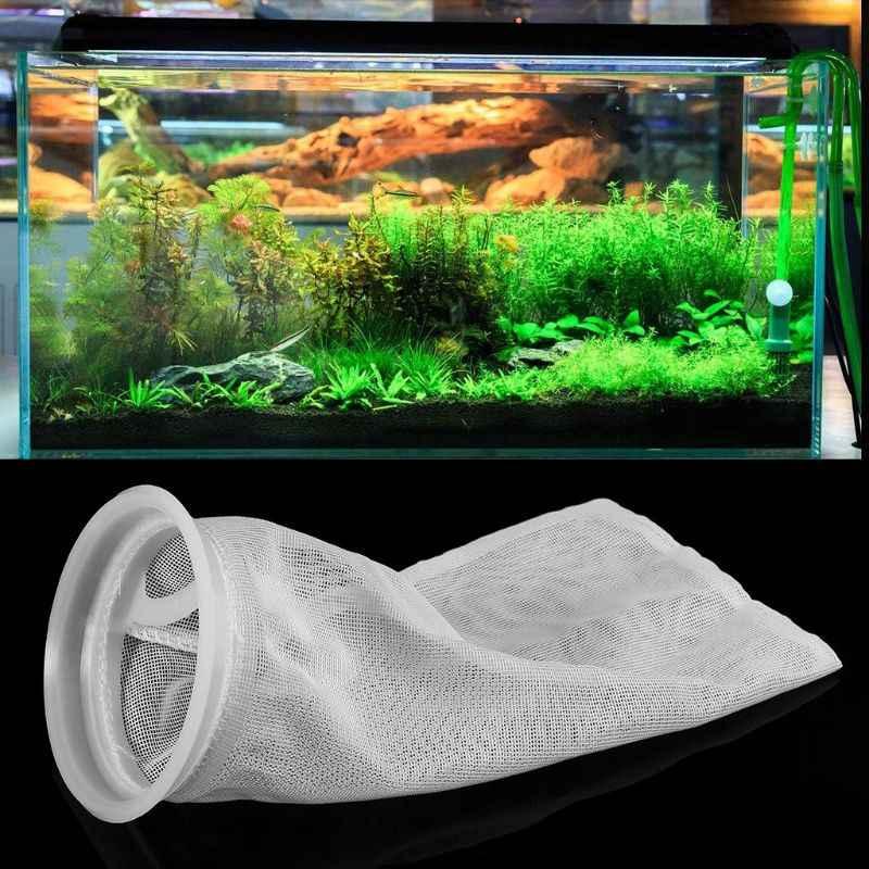 Filtro de acuario Sump bolsa de red de malla de calcetín bolsa de filtro de repuesto accesorios de tanque de peces
