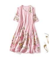 Настоящее шелковое платье женские платья пляжные макси летние