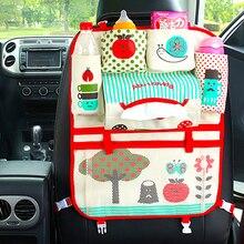 Мультфильм автомобиль организатор милый мультфильм заднем сиденье автомобиля мешки для хранения висит автомобиль Organizador сумки карман стайлинга автомобилей для детей Y1