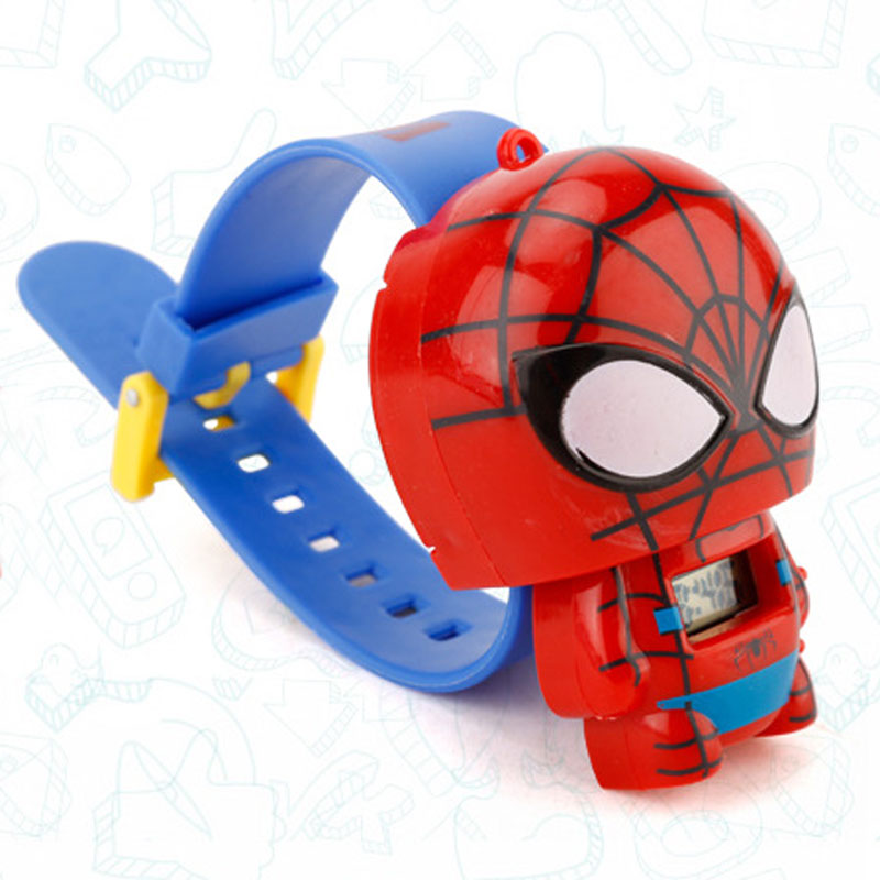 Children Watch Batman Captain America kids watches Nijago Hulkbuster Iron Man Spiderman Toy for Children Watch Girl Boy